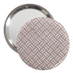 Woven2 White Marble & Sand 3  Handbag Mirrors