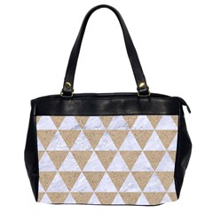 Triangle3 White Marble & Sand Office Handbags (2 Sides)