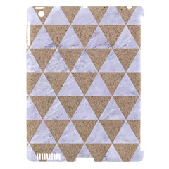Triangle3 White Marble & Sand Apple Ipad 3/4 Hardshell Case (compatible With Smart Cover)