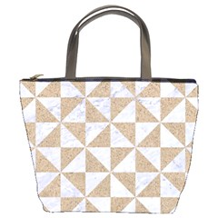 Triangle1 White Marble & Sand Bucket Bags