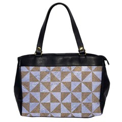 Triangle1 White Marble & Sand Office Handbags