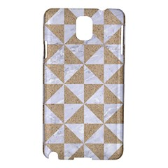 Triangle1 White Marble & Sand Samsung Galaxy Note 3 N9005 Hardshell Case