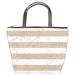 Stripes2white Marble & Sand Bucket Bags
