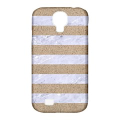 Stripes2white Marble & Sand Samsung Galaxy S4 Classic Hardshell Case (pc+silicone)