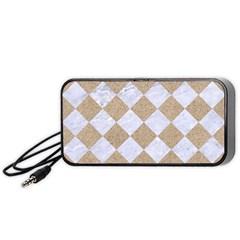 Square2 White Marble & Sand Portable Speaker
