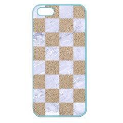Square1 White Marble & Sand Apple Seamless Iphone 5 Case (color)
