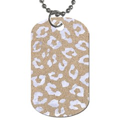 Skin5 White Marble & Sand (r) Dog Tag (two Sides)