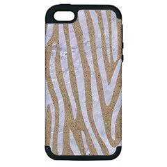 Skin4 White Marble & Sand (r) Apple Iphone 5 Hardshell Case (pc+silicone)