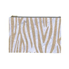 Skin4 White Marble & Sand Cosmetic Bag (large)