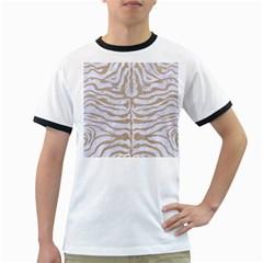 Skin2 White Marble & Sand (r) Ringer T Shirts