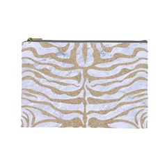 Skin2 White Marble & Sand (r) Cosmetic Bag (large)