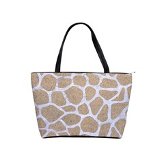 Skin1 White Marble & Sand (r) Shoulder Handbags