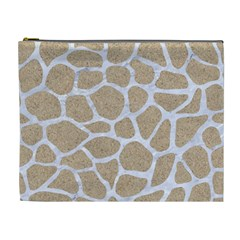 Skin1 White Marble & Sand (r) Cosmetic Bag (xl)