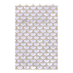 Scales3 White Marble & Sand (r) Shower Curtain 48  X 72  (small)