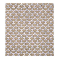 Scales3 White Marble & Sand Shower Curtain 66  X 72  (large)
