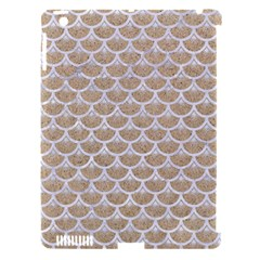 Scales3 White Marble & Sand Apple Ipad 3/4 Hardshell Case (compatible With Smart Cover)