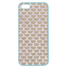 Scales3 White Marble & Sand Apple Seamless Iphone 5 Case (color)