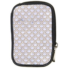 Scales2 White Marble & Sand (r) Compact Camera Cases