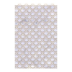 Scales2 White Marble & Sand (r) Shower Curtain 48  X 72  (small)