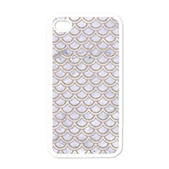 Scales2 White Marble & Sand (r) Apple Iphone 4 Case (white)