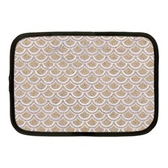 Scales2 White Marble & Sand Netbook Case (medium)