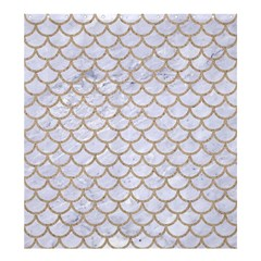 Scales1 White Marble & Sand (r) Shower Curtain 66  X 72  (large)