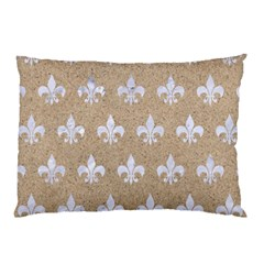 Royal1 White Marble & Sand (r) Pillow Case