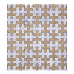Puzzle1 White Marble & Sand Shower Curtain 66  X 72  (large)