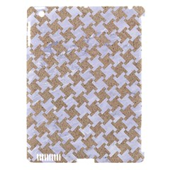 Houndstooth2 White Marble & Sand Apple Ipad 3/4 Hardshell Case (compatible With Smart Cover)