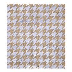 Houndstooth1 White Marble & Sand Shower Curtain 66  X 72  (large)