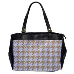 Houndstooth1 White Marble & Sand Office Handbags