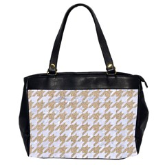 Houndstooth1 White Marble & Sand Office Handbags (2 Sides)