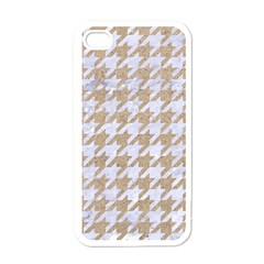Houndstooth1 White Marble & Sand Apple Iphone 4 Case (white)