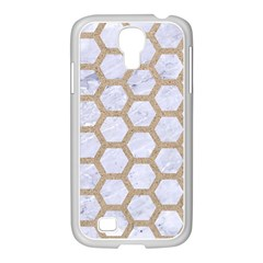 Hexagon2 White Marble & Sand (r) Samsung Galaxy S4 I9500/ I9505 Case (white)
