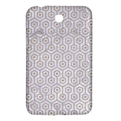 Hexagon1 White Marble & Sand (r) Samsung Galaxy Tab 3 (7 ) P3200 Hardshell Case