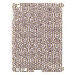 Hexagon1 White Marble & Sand Apple Ipad 3/4 Hardshell Case (compatible With Smart Cover)