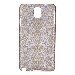 Damask2 White Marble & Sand (r) Samsung Galaxy Note 3 N9005 Hardshell Case