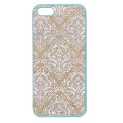 Damask1 White Marble & Sand Apple Seamless Iphone 5 Case (color)