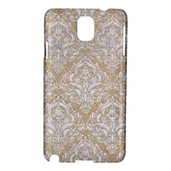 Damask1 White Marble & Sand Samsung Galaxy Note 3 N9005 Hardshell Case