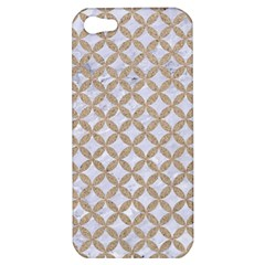 Circles3 White Marble & Sand (r) Apple Iphone 5 Hardshell Case
