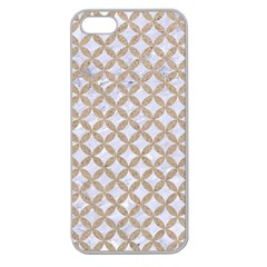 Circles3 White Marble & Sand (r) Apple Seamless Iphone 5 Case (clear)