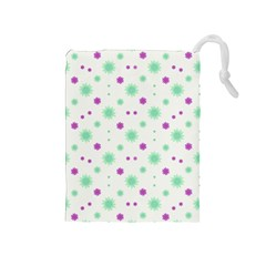 Stars Motif Multicolored Pattern Print Drawstring Pouches (medium)