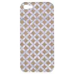 Circles3 White Marble & Sand Apple Iphone 5 Hardshell Case