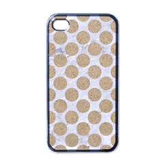 Circles2 White Marble & Sand (r) Apple Iphone 4 Case (black)