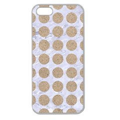 Circles1 White Marble & Sand (r) Apple Seamless Iphone 5 Case (clear)