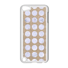 Circles1 White Marble & Sand Apple Ipod Touch 5 Case (white)