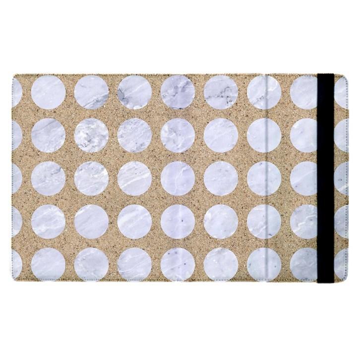 CIRCLES1 WHITE MARBLE & SAND Apple iPad Pro 9.7   Flip Case