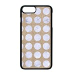 CIRCLES1 WHITE MARBLE & SAND Apple iPhone 7 Plus Seamless Case (Black) Front