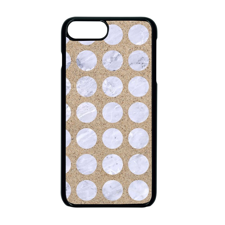 CIRCLES1 WHITE MARBLE & SAND Apple iPhone 7 Plus Seamless Case (Black)