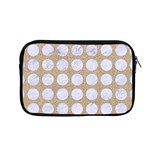 CIRCLES1 WHITE MARBLE & SAND Apple MacBook Pro 13  Zipper Case Front